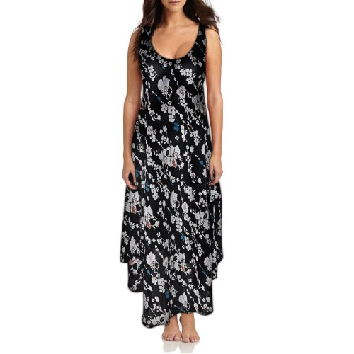 Black Floral Georgette Maternity Wear Long Gown for Women