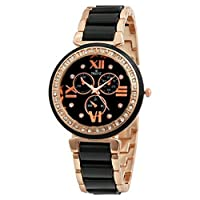 SWISSTYLE Analogue Black Dial Women's Watch-SS-LR703-BLK-CH
