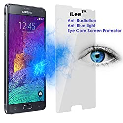 iLee Anti Radiation Eye Care Premium TEMPERED Glass Screen Protector For SAMSUNG GALAXY NOTE 4