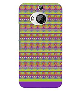 PrintDhaba Pattern D-1717 Back Case Cover for HTC ONE M9 PLUS (Multi-Coloured)