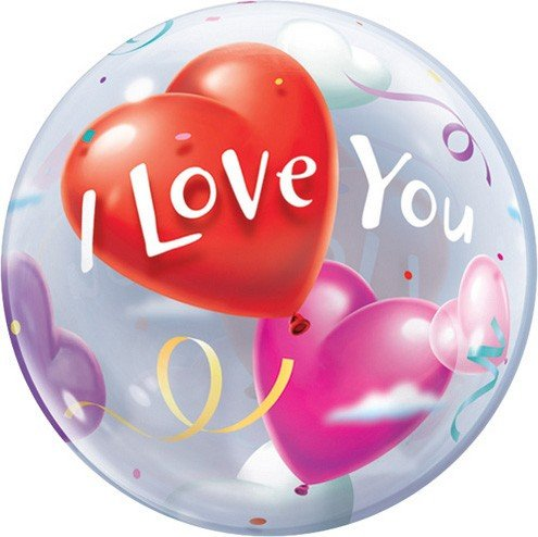 Valentines Day Balloon - I Love You Balloon Bubble - 22 Inch Bubble Balloon - 1