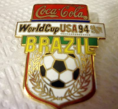 BRAZIL World Cup Soccer 1994 USA Collectible Coca-Cola Hat Lapel Pin