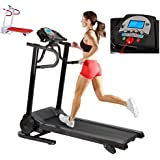 New 12km/hr Incline Electric Treadmill With Built In Speakers For SmartPhone Neatly Folds Away
