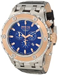 Invicta Men's 10081 Subaqua Reserve Chronograph Blue Textured Dial Watch