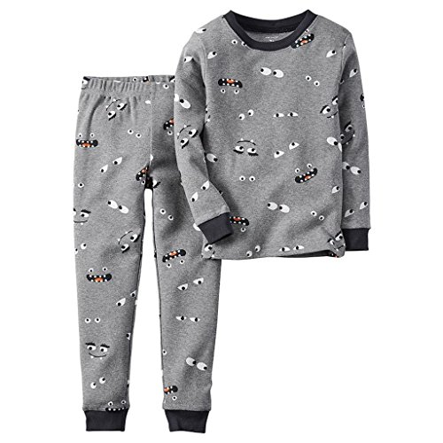 CARTER'S Boy's Size 5T Halloween Monster Glow Dark Eyes Pajama Set