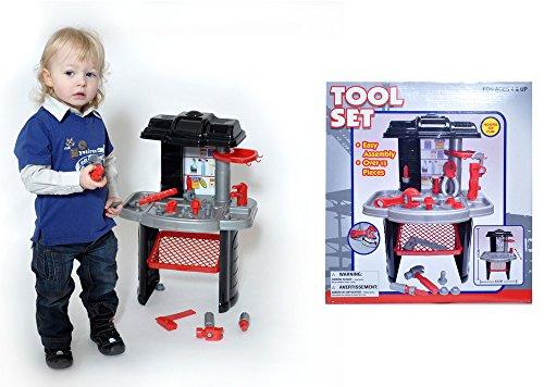 Tavolo officina banco di lavoro per bambini con attrezzi e utensili cm 42*61*27 pezzi 16