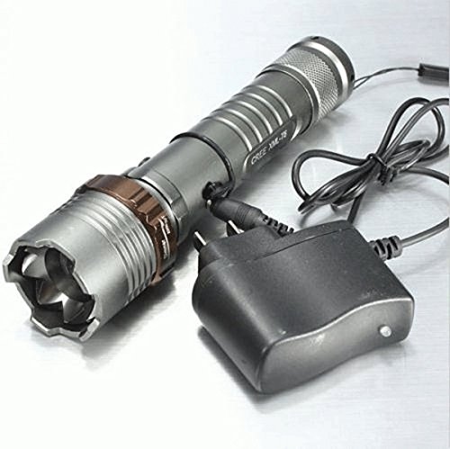 Complaisance LED Light 2000 Lumen Adjustable Focus Torch Flashlight Color Gray