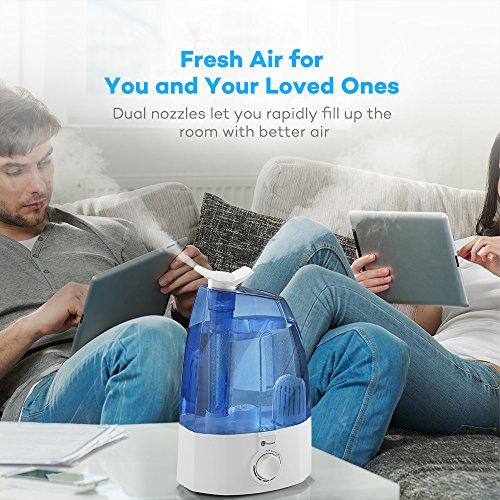 Cool Mist Humidifier, TaoTronics Ultrasonic Air