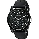 Armani Exchange Unisex AX1326 Resin Black Watch