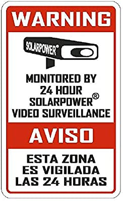 "SECURITY SIGNS - 5 Pack Commercial & Home 3"" x 5"" Alarm Sign, Surveillance Video CCTV Warning! Deterrence Decals"