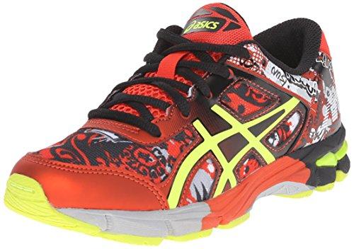 ASICS Gel-Noosa Tri 11 GS Running Shoe (Little Kid/Big Kid), Black/Flash Yellow/Orange, 2 M US Little (Shoes For Kids Online)