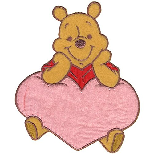Wrights Disney Winnie The Pooh Pooh with Heart Iron-On Applique