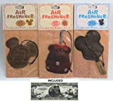 Disney Parks Air Fresheners Set Of 3 - Mickey Waffle, Minnie Candy Apple, & Mickey Premium Ice Cream Bar Scent - Disney Parks Exclusive & Limited Availability + Non-Monetary Jack Skellington Bill Included