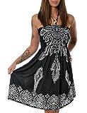 Damen Sommerkleid Strandkleid (weitere Farben) No 13765, Farbe:Schwarz (N304);Größe:One Size