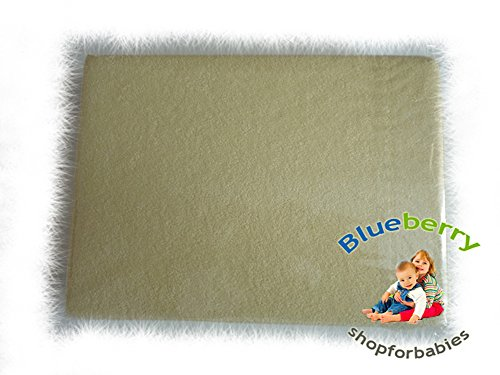 "BlueberryShop TERRY TOWELLING FITTED SHEET TODDLER BED BABY COTBED 70 X 140 cm (27,5"" x 55"") ( 0-7Yrs ) ( 150 x 70 x 16 cm ) Yellow"