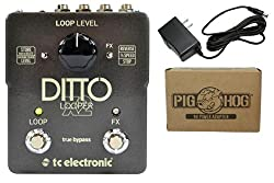 TC Electronic Ditto Looper X2 Bundle - 1 Item: Pig Hog 9v Power Adapter