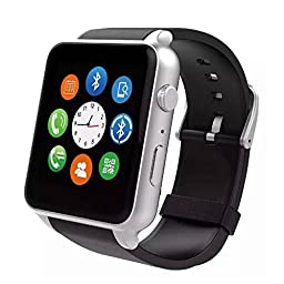 Webest Bluetooth Smart Wrist Watch Phone with SIM Card Slot for Smartphones - Silver