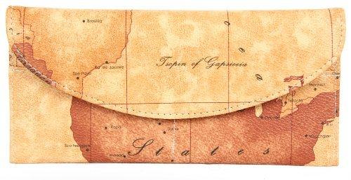CherriKiss Portafoglio pochette da donna in stile Carta Antica