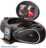 iLive IBPD882B CD/DVD/iPhone Boombox with 7-Inch TFT Display and FM Radio