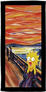 Belltex 429-SIMP-SL35A 'The Simpsons Lisa Scream' Beach Towel Velours 76 x 152 cm
