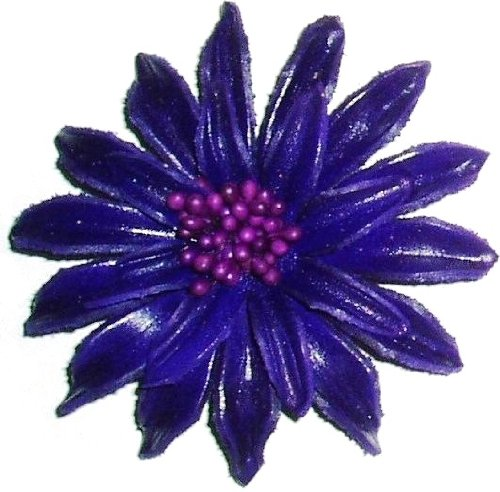 Tribe Leather Large Spiky Purple brooch / pin
