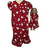 Hello Kitty Red Matching Girls And Doll Nightgown Size 7