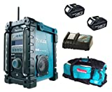Makita 18V LXT BMR101 BMR101Z BMR101Rfe Job Site Radio With Dab, 2 X BL1830 Batteries, DC18RC Charger And LXT600 Bag