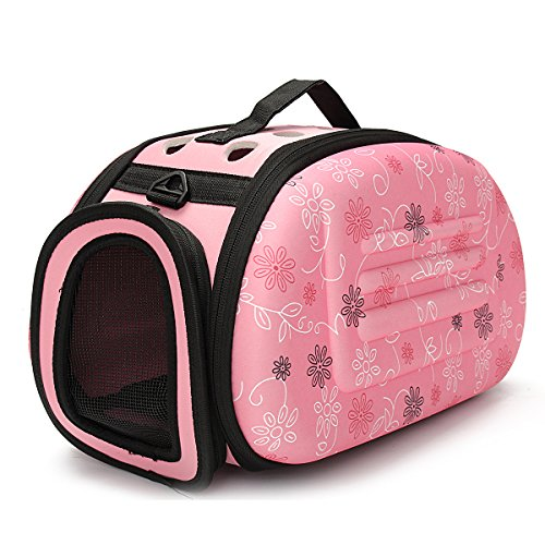king-do-way-casa-per-cane-e-gatto-tote-borsa-portatile-animale-domestico-trasporto-viaggio-rosa-42cm
