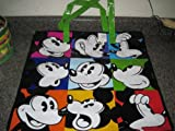 Disney-Walt-Disney-Mickey-Mouse-Expressions-Vinyl-Reusable-Gift-Bag-Shopping-Bag-Tote-Purse-with-Zipper-plus-MGM-post-card