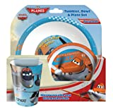 Spearmark 3-Piece Disney Planes Tumbler, Bowl and menu Set