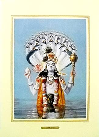 Lord krishna incarnation of Lord Vishnu Poster (Unframed : 20X28 Inches)