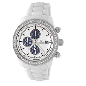 Le Chateau Men's 5821M_WHT Bello Collection All Ceramic with Sapphire Crystal and C-Z Watch