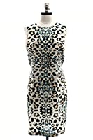 Brochu Walker Dallan Dress in Leopard/Whisper White