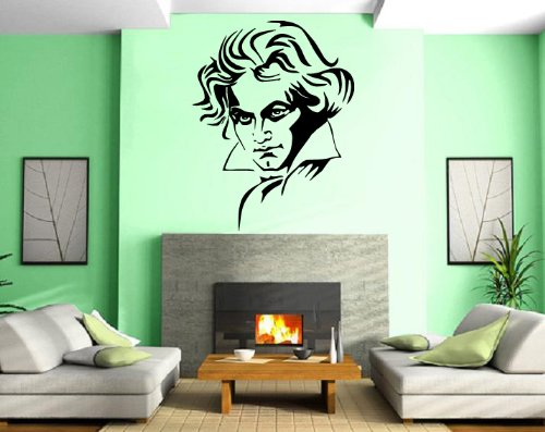Ludwig Van Beethoven Classic Music Composer Portrait Decor Wall Mural Vinyl Art Sticker M347