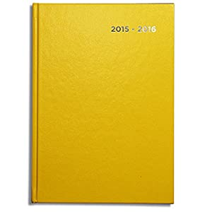 Pirongs A4 Page-a-day 2015-2016 Yellow Academic Diary