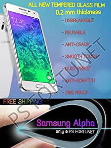 0.2mm UNBREAKABLE TEMPERED GLASS FILM Guard REUSABLE SCREEN PROTECTOR FOR Samsung Galaxy Alpha - PS FORTUNET
