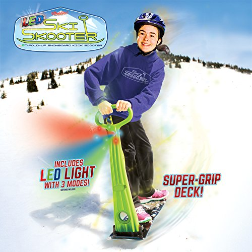 geospace-original-ski-skooter-fold-up-snowboard-kick-scooter-for-use-on-snow-and-grass-assorted-colo