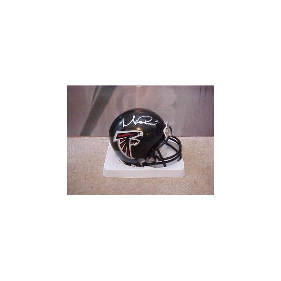 Hand Signed Autographed Atlanta Falcons Riddell Football Mini Helmet