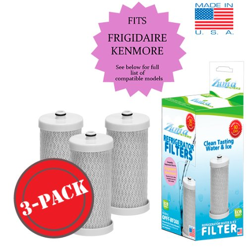 (3-Pack) Frigidaire NGRG-2000 Compatible Refrigerator Water Filter by Zuma Water Filter (OPFF)