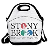 Black Fashion Stony Brook University Logo Lightweight Unisex Lunch Bags For Woman Man Kid