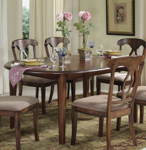 Buy Low Price Bassett Mirror Company Francesca Round/Oval Drop Leaf Dining Table by Bassett Mirror Company – Dark Fruitwood (D1149-702) (D1149-702)
