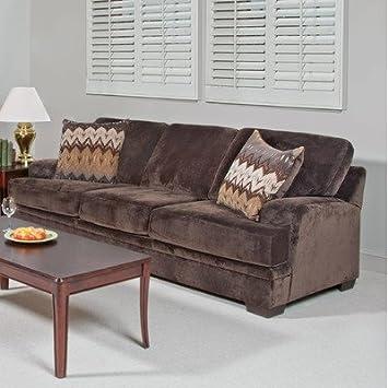 Vermont Sofa Fabric: Olympian Chocolate / Padma Otter