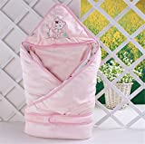 Newborn Baby Saco de dibujos animados ropa de bebé techo Infant Swaddle Blanket swadd Ling Wrap Blanket Sleep Saco Newborn Sleeping Bag swaddled Baby también Dormir Mejor [Can I Do Best] Pink01