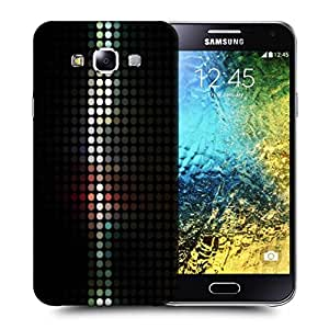 Snoogg Abstract Black Design Printed Protective Phone Back Case Cover ForSamsung Galaxy E5