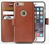iPhone 6, 6s Wallet Case | Durable and Slim | Lightweight with Classic Design & Ultra-Strong Magnetic Closure | Faux Leather | Light Brown