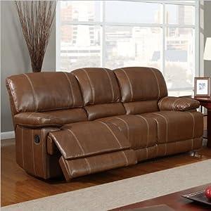 Global Furniture Usa U9963 Bonded Leather Reclining Sofa Brown Power Reclining Sofa Living