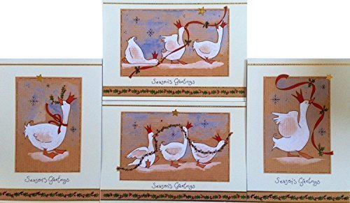16-christmas-geese-christmas-cards-with-envelopes-4-designs
