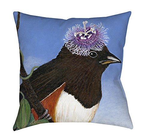 Thumbprintz Square Indoor/Outdoor Pillow, 20-Inch, You Silly Bird Donna front-470588