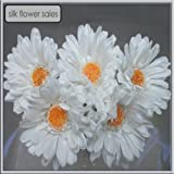 X5 single stem white gerbera artificial silk