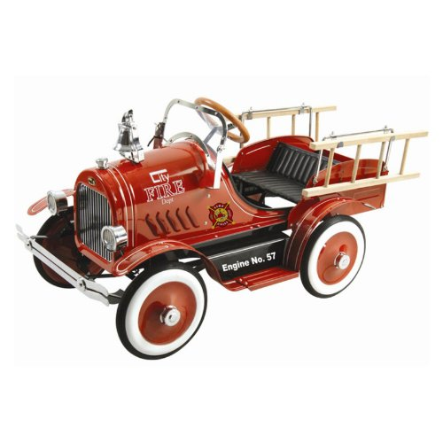 Kalee Deluxe Fire Truck Pedal Riding Toy - Red